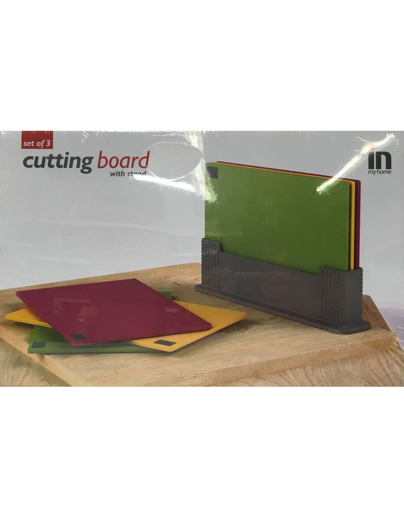 3pc Cutting Board with Stand