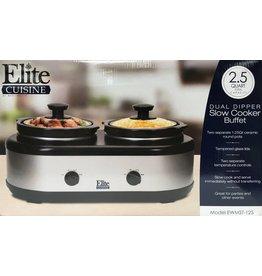 Elite Cuisine Dual Dipper Slow Cooker Buffet