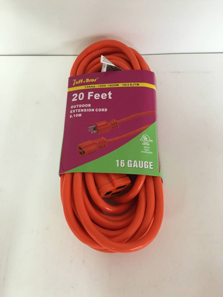 Tuff Bros Extension Cord - 20 Feet