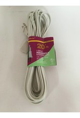 3-Outlet Indoor Extension Cord - 20 Feet