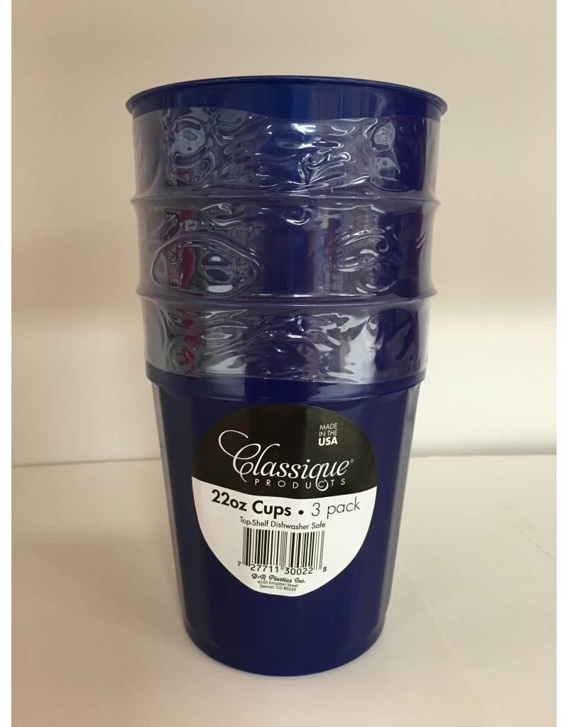 Classique Classique 22oz Plastic Cups - 3 Pack