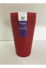 DO DO 17oz Plastic Cups - 4 Pack