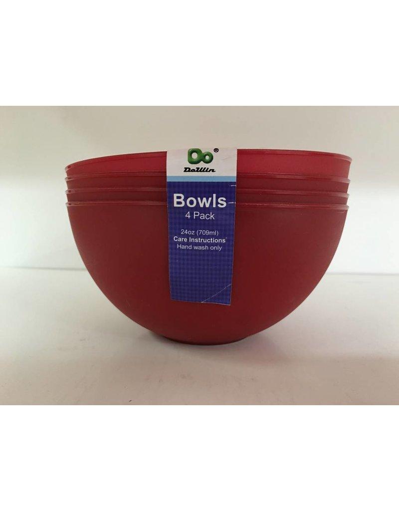 DO DO 24oz Plastic Bowls - 4 Pack