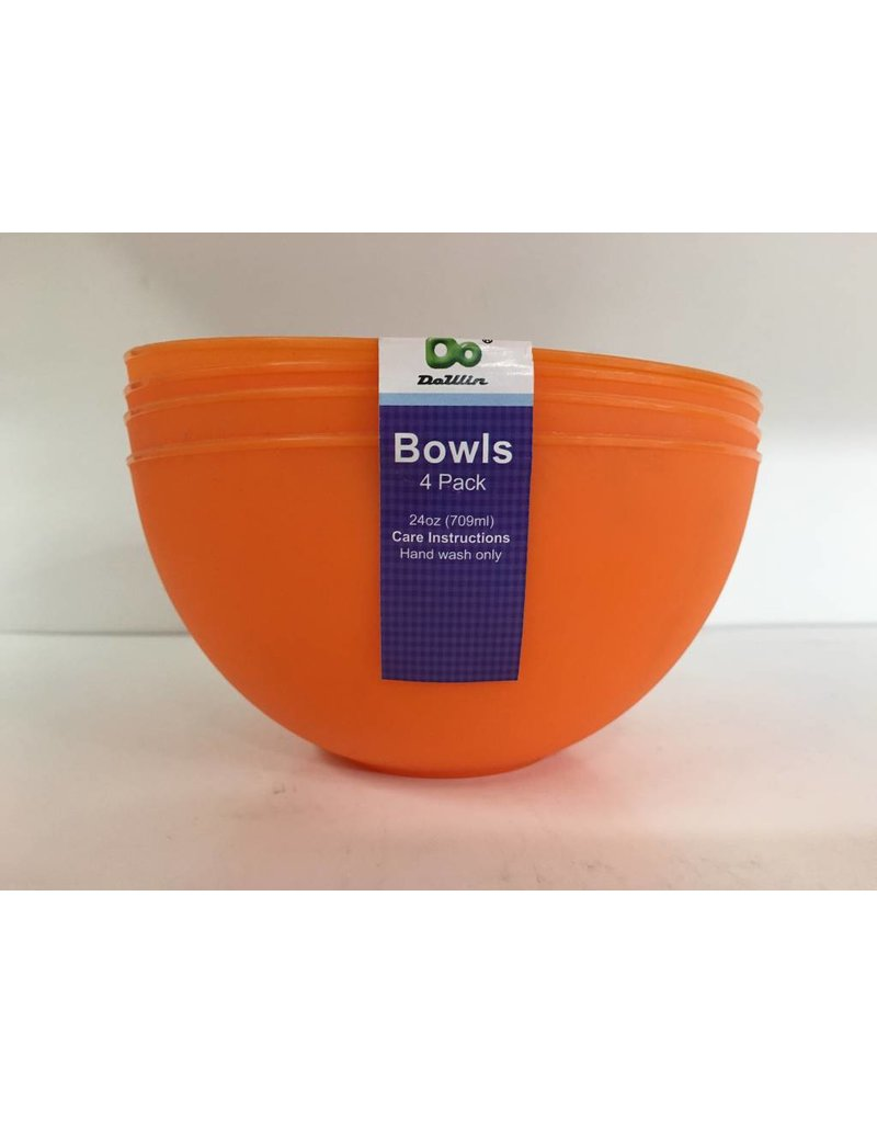 DO DO 24oz Plastic Bowls - 4 Pack