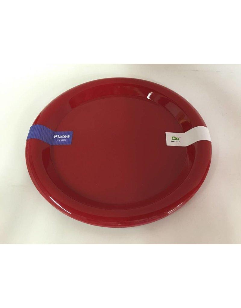 "DO DO 10"" Plastic Plates - 4 Pack"