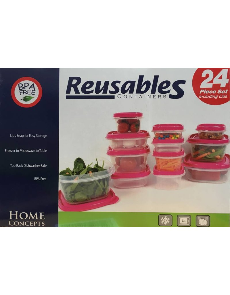 Reusables Reusables Food Containers - 24 pcs