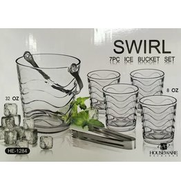 Swirl Swirl 7pc Ice Bucket Set