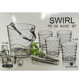 Swirl Swirl 7pc Ice Bucket Set