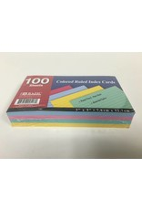 Bazic Index Cards - Color - 100 Sheets