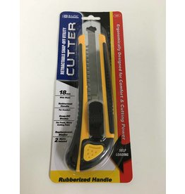 Bazic Retractable Box Cutter with Rubberized Handle