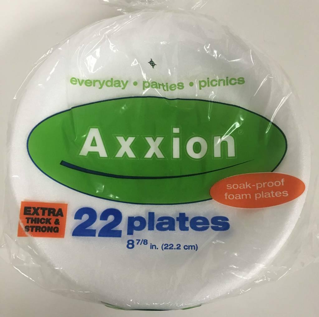 Axxion Premium Quality Foam Plates - 22 Plates