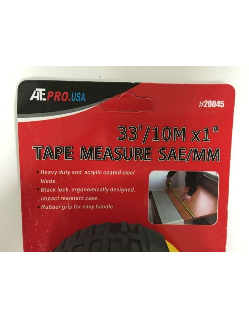 "ATE 33' x 1"" Measuring Tape"
