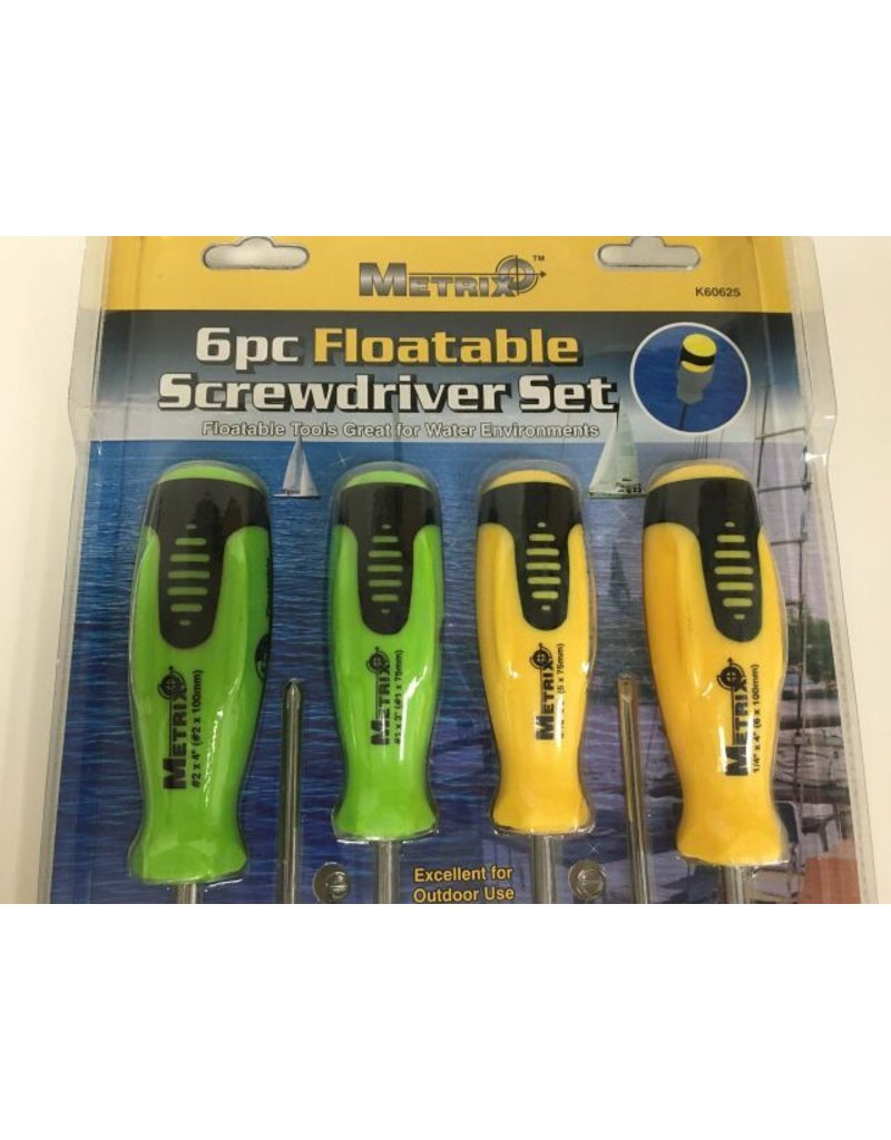 Metrix 6pc Floatable Screwdriver Set