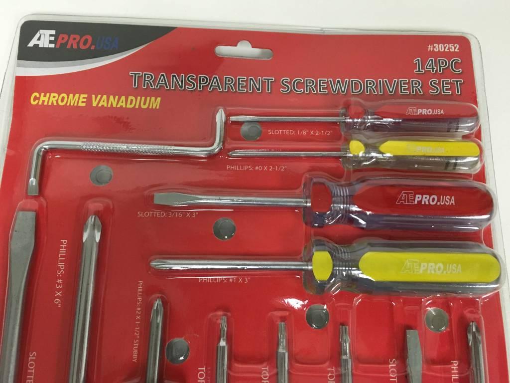 ATE Chrome Vanadium 14pc Screwdriver Set