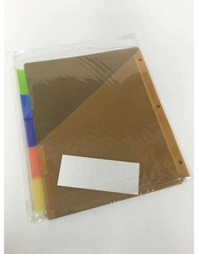 Bazic 5 Tab Color Divider