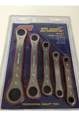 ATE 5pc Ratchet Box Wrench Set