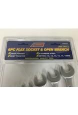 ATE 6pc Flex Socket & Open Wrench