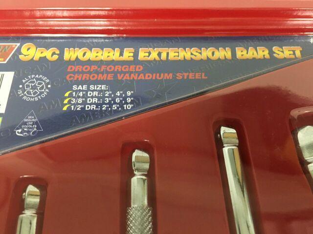 ATE 9pc Wobble Extension Bar Set