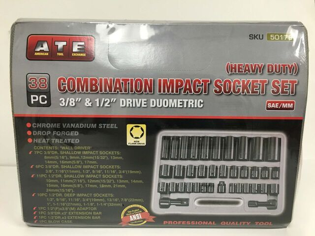 ATE 38pc Combo Impact Socket Set