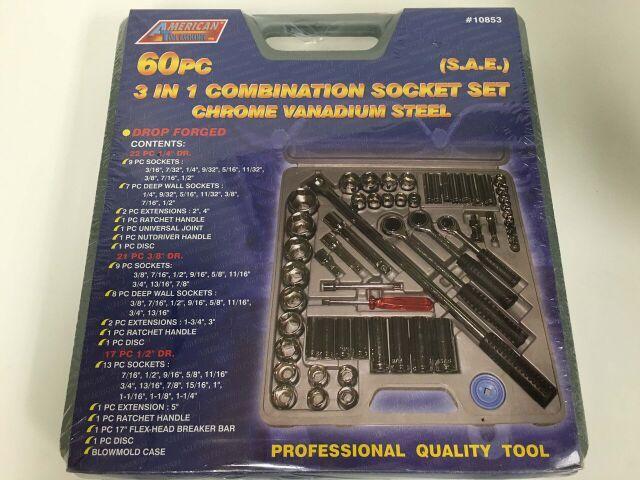 ATE 60pc 3in1 Combo Socket Set