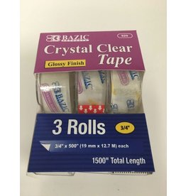 Bazic Clear Tape 3 Rolls