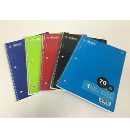 Bazic Single Subject Notebook Wide
