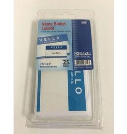 Bazic Adhesive Name Badge Labels