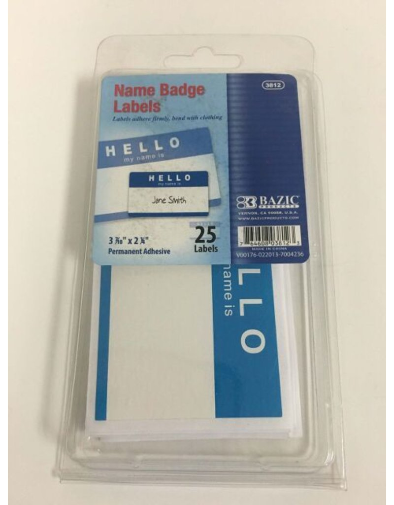 Bazic Adhesive Name Badge Labels