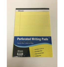 Bazic Perforated Writing Pad Yellow