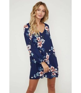 A Beauty Floral Mini Dress