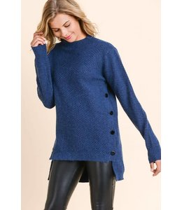 Doe & Rae Side Button Sweater