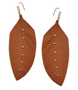 Studded Feather Earrings
