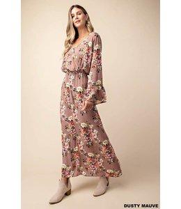 Kori America Floral Surplice Dress