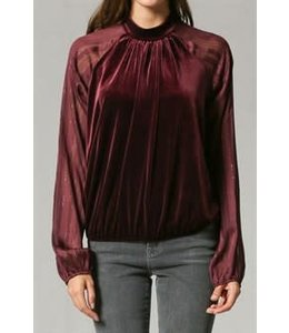 By Together Velvet Crewneck Top
