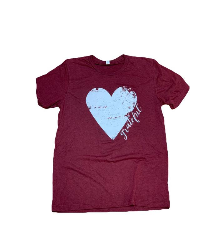 Bella and Canvas Grateful Heart Tee