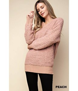 Kori America FUZZY HOODY LONG SWEATER