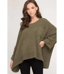 She + Sky Oversized Chenille Sweater