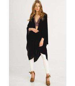 Wishlist Kimono Cardigan w/ Handkerchief Hem