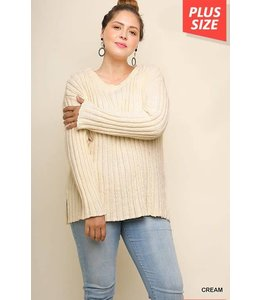 Umgee Chenille Knit Pullover