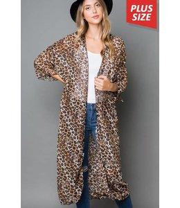 Cezanne Leopard Print Kimono
