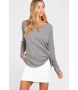 Long Sleeve Rib Knit top WL17-0644
