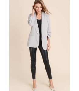 Doe & Rae Pin Tuck Blazer