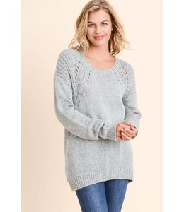 Doe & Rae Open Shoulder Pullover