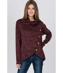 Hopely LS Slouchy Neck Top HT8652