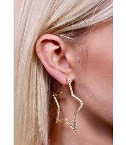 Caroline Hill Star Hoops - Gold  E13543-G