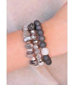 Caroline Hill Stretch Bracelet Set B12248-GRY