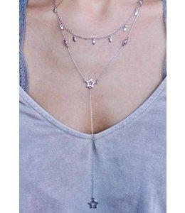 Caroline Hill Star Drop Y Necklace N12375-S