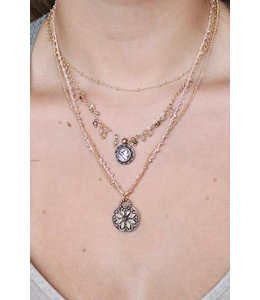 4 Layer Chain/Bead Necklace N12730
