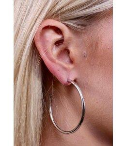 Caroline Hill E13558 Big Hoop Earring Silver