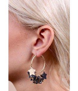 Caroline Hill e13524 Star Gazer Hoop Earrings